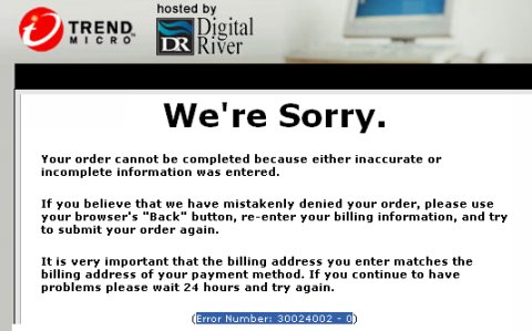 Digital River Error 30024002
